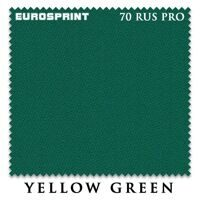 Бильярдное сукно Eurosprint 70 Rus Pro 198 cм Yellow Green